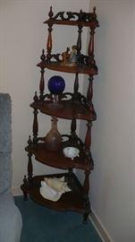 walnut corner stand