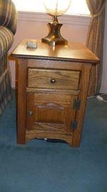 2 oak lamp cabinets