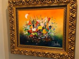 F. Boucheix French artist original