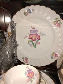 Several sets of vintage china. Florals and Asian motifs This set Sold