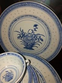 Rice Flower vintage china set
