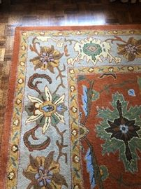 Like new large gorgeous area rug in a Persian style 100% wool