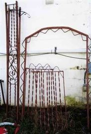 Antique Wrought Iron Trellis