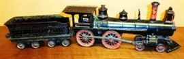 Vintage Cast Iron Locomotive and Coal Car
