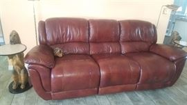 Leather Couch with Recliners on each end