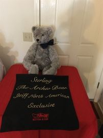 Steiff   Sterling, The Archive Bear EAN668548   #00673    Button in his Ear,   Certificate of Authenticity