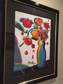 Original - Peter Max - beautifully framed also :)