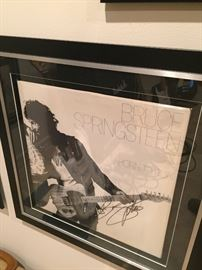BRUCE  :) - Born to Run Album cover - signed and professionally framed