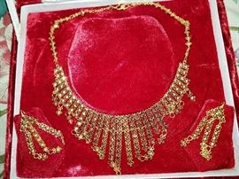 22kt gold jewelry set from India