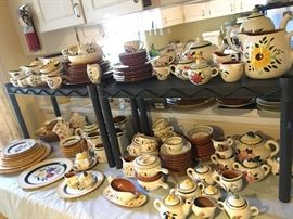 Stangl pottery, blueberry, fruit and garden, and many more..
