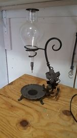 Vintage Wine Aerator Decanter With Wrought Iron Stand