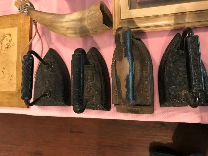 Antique Sadirons- Signed