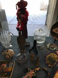 Red Hat Ladie, Murano Glass Flower and More