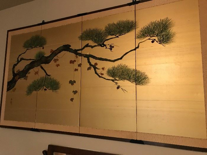Japanese 4 Panel Screen