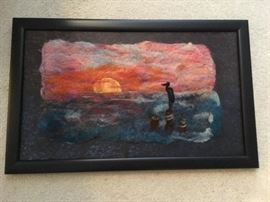 This is a stunning piece rendered in felted wool !!