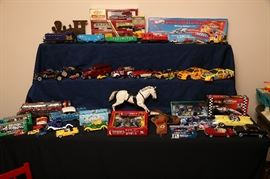 Cars, cars and more cars.  These are the small ones.  We have large pieces also.