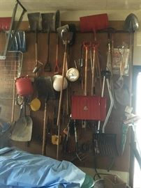 Many yard tools