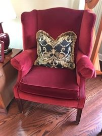 Oneof several WIng back chairs - in pairs - different styles