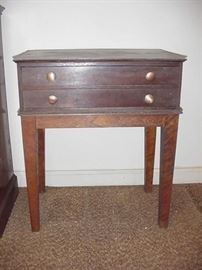 Two-drawer early 1900s work table