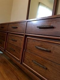Not In To Antique Furniture?...OK...How About This Fab MidCentury 9 Drawer Dresser w/Mirror? This Piece Is So Long and Cool!...