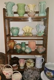 Roseville, Hull, McCoy, Hall, & many other pottery pieces