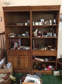 2 book shelves
