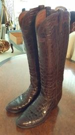 Men's Alligator Belly  Custom Lucchese Boots, size 10