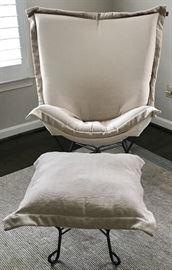 Howard Elliott chair and ottoman
