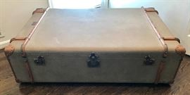 Restoration Hardware large trunk coffee table/ottoman