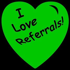 i love referrals green