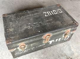 Vintage military trunk