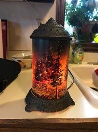 Antique revolving lamp!