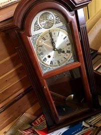 Really Pretty Windham Clock (the Key and Pendulum Will Be At The Checkout)...It's In A Pretty Cool Chest Too!...