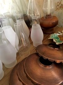 Oil lamps and Accessories...