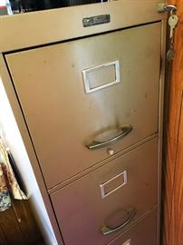 and A Vintage File cabinet...With The Key!...