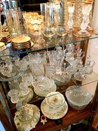 This One Is Filled With The Prettiest Glass...Top Shelf Is All 50th Anniversary Items!...Need Any?...
