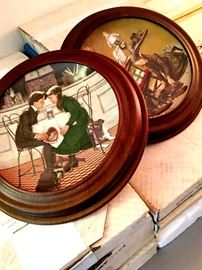 Norman Rockwell Plates...