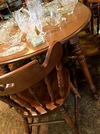 Now...To The Family Room!...Another Nice Large Dining Set w/6 Chairs and Two Leaves...