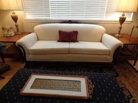 Carved, unique sofa