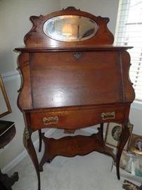 Victorian Secretary/desk with mirror