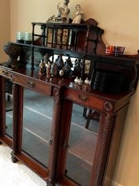 Also We Have This Breathtaking Antique Server/China Cabinet...