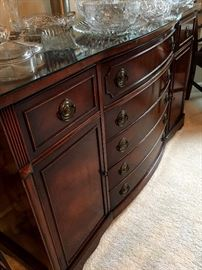 Or...A Beautiful Glass Topped Buffet...