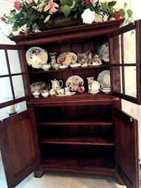 This Lighted China Hutch Is Wonderful...