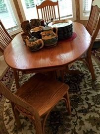 This Solid Oak Dinette Set Is Perfect For Your Active Family...