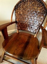 Speaking Of Made To Last...This Antique Woven Arm Chair Is A Keeper...