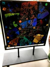 "This Pressed Glass Screen Is Beautiful...The Glass Measures Around 12"" Square..."