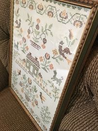 Even This Antique Cross Stitch Sampler...So Sweet...