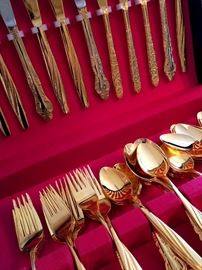 Gold Flatware...(no, not real gold)...