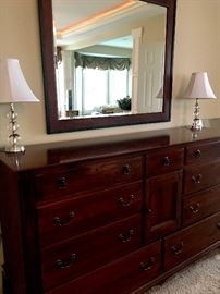 As promised...The Mater Bedroom!..This 10 Drawer dresser w/Mirror Is To Die For!...