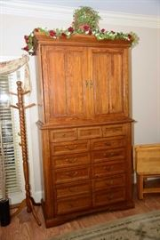 Armoire TV cabinet with chest underneath